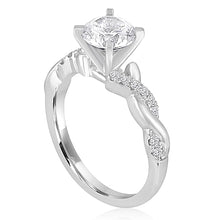 Load image into Gallery viewer, Signature Pave Twist Shank Diamond Engagement Ring