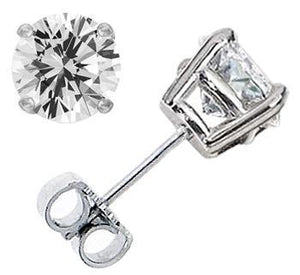 1CT Diamond Stud Earrings