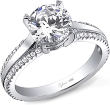 Load image into Gallery viewer, Sylvie Double Row Diamond Engagement Ring