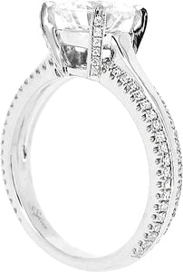 Sylvie Double Row Diamond Engagement Ring