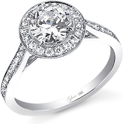 Sylvie Milgrain Diamond Engagement Ring