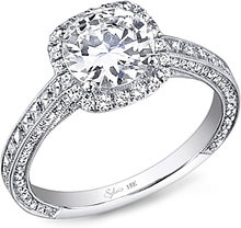 Load image into Gallery viewer, Sylvie Pave Halo Diamond Engagement Ring