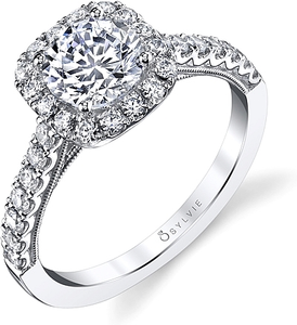 Sylvie Prong Set Diamond Engagement Ring