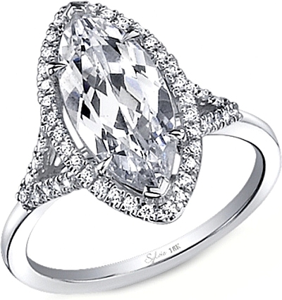 Sylvie Split Shank Diamond Engagement Ring