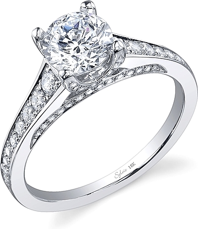 Sylvie Pave Diamond Engagement Ring