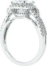 Load image into Gallery viewer, Sylvie Twist Shank Halo Diamond Engagement Ring