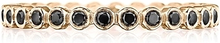 Tacori Black Diamond Bezel Set Wedding Band