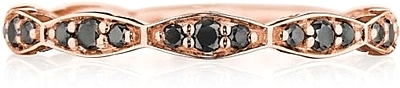 Tacori Black Diamond Wedding Band