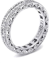 Tacori Channel-Set Princess Cut & Pave Diamond Band