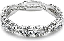 Load image into Gallery viewer, Tacori Criss-Cross Channel-Set & Pave Diamond Eternity Band