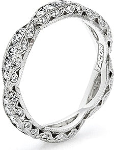 Tacori Criss-Cross Channel-Set & Pave Diamond Eternity Band