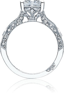 Tacori Pave Ribbon Princess Cut Diamond Engagement Ring