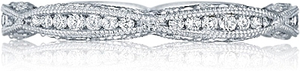 Tacori Petite Criss-Cross Channel-Set & Pave Diamond Wedding Band