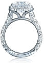 Tacori RoyalT Princess Cut Diamond Engagement Ring w/ Bloom