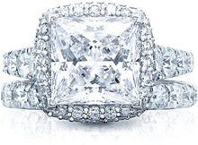 Load image into Gallery viewer, Tacori RoyalT Princess Cut Diamond Engagement Ring w/ Bloom
