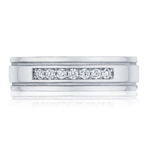 Gents 6mm Channel-Set Diamond Band