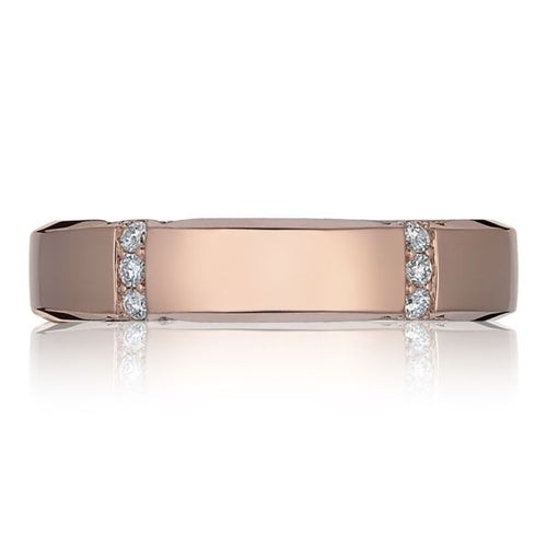 Tacori Gents Rose Gold and Diamond Wedding Band