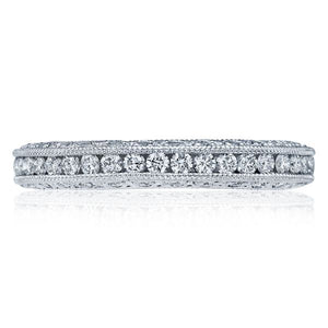 Tacori Channel-Set and Pave Diamond Band