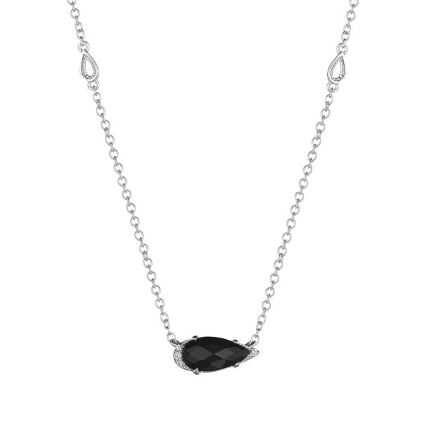 Tacori Sterling Silver Black Onyx & Diamond Necklace