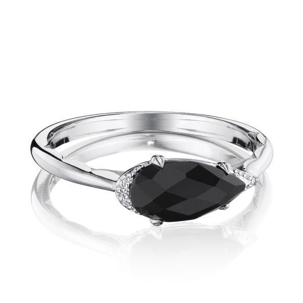 Tacori Sterling Silver Onyx & Diamond Ring