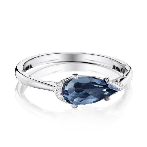 Tacori Sterling Silver London Blue Topaz & Diamond Ring