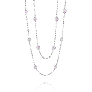 "Lilac Blossoms 38"" Candy Drop Necklace"
