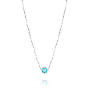 Island Rains Petite Floating Bezel Necklace