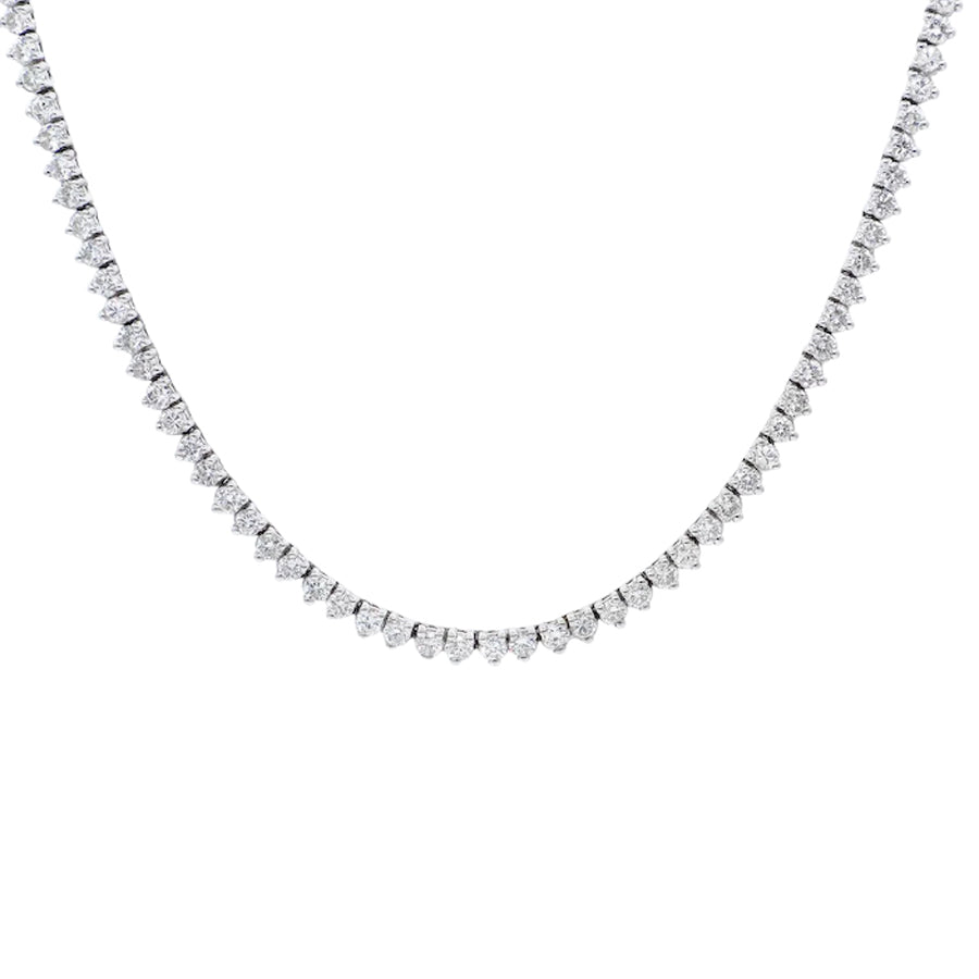 18k White Gold Diamond Choker