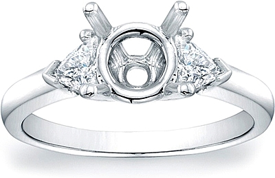 Trillion Diamond Engagement Ring- .44ct tw