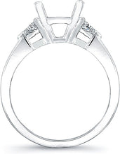Load image into Gallery viewer, Trillion Diamond Engagement Ring- .44ct tw