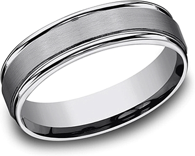 Tungsten Comfort Fit Wedding Band- 6mm