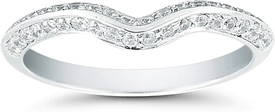 Vatche Beveled Pave Diamond Contoured Band