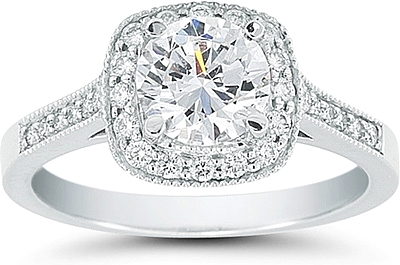 Vatche Pave Grace Engagement Ring .29ct tw