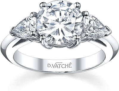 Vatche Pear Shape Diamond Engagement Ring .35ct tw