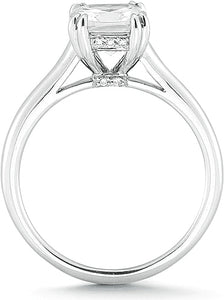 Vatche Solitaire Engagement Ring w Pave Basket
