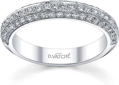 Vatche Three Row Pave Diamond Engagement Ring