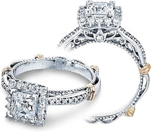 Load image into Gallery viewer, Verragio Halo Pave Diamond Engagement Ring
