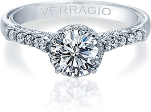 Verragio Pave Halo Diamond Engagement Ring