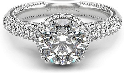 Verragio Pave Set Diamond Engagement Ring