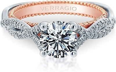 Verragio Pave Twist Diamond Engagement Ring