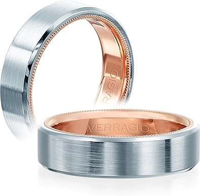 Verragio Satin Finish Men's Wedding Band