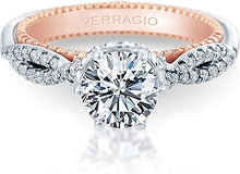Load image into Gallery viewer, Verragio Three Stone Diamond Engagement Ring