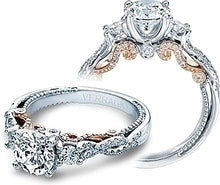 Load image into Gallery viewer, Verragio Three Stone Twist Engagement Ring