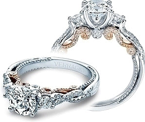 Verragio Three Stone Twist Engagement Ring