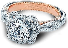Load image into Gallery viewer, Verragio Twist Shank Diamond Engagement Ring