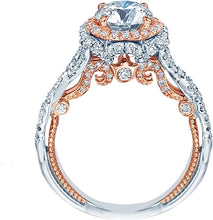 Load image into Gallery viewer, Verragio Twist Shank Halo Diamond Engagement Ring