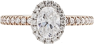 Verragio Two-tone Halo Diamond Engagement Ring