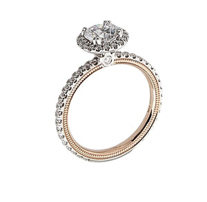 Verragio Two-Tone Pave Halo Diamond Engagement Ring
