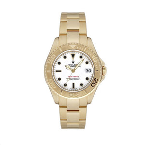 Rolex Midsize Yachtmaster in 18K Yellow Gold
