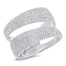 Load image into Gallery viewer, 14k White Gold Diamond Wrap Ring